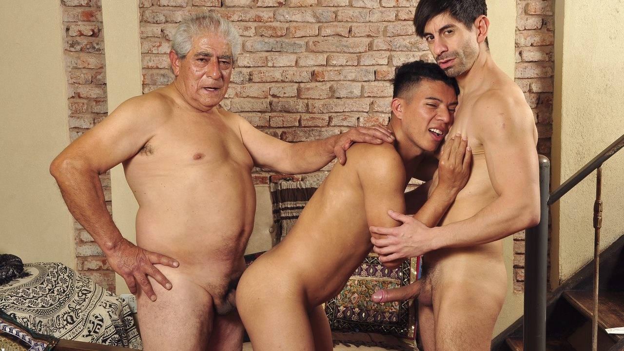 Photo of Grandpa Parties With Two Studs
